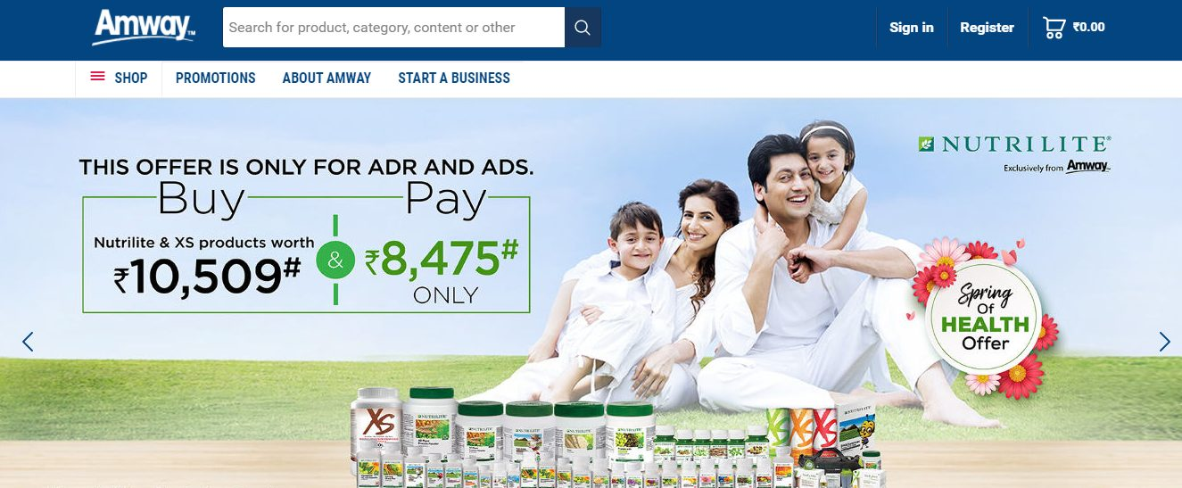 Amway India MLM Company: Best Network Marketing Company in India