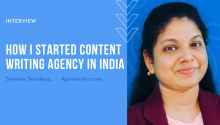 How I Started Content Writing Agency in India